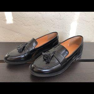 Black Tassel Loafers - Black